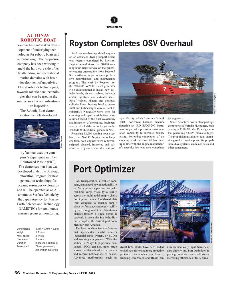Maritime Reporter Magazine, page 56,  Apr 2019