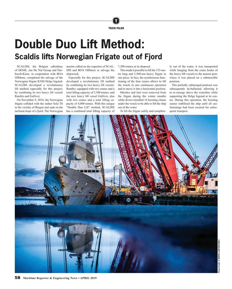 Maritime Reporter Magazine, page 58,  Apr 2019