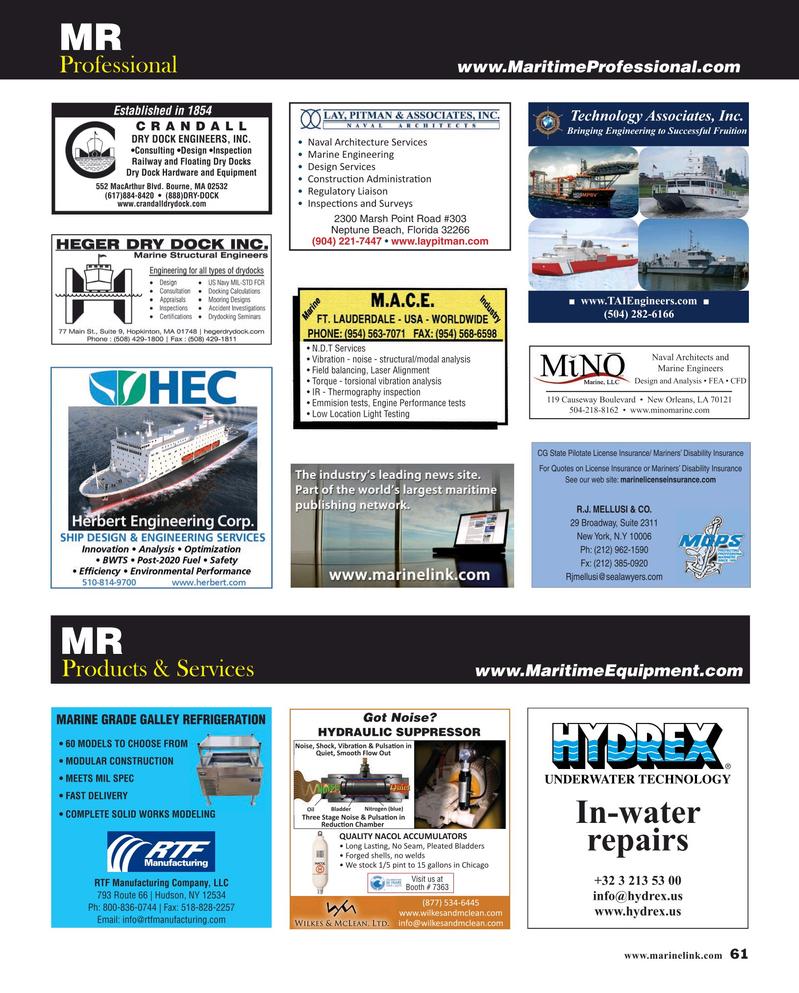 Maritime Reporter Magazine, page 61,  Apr 2019