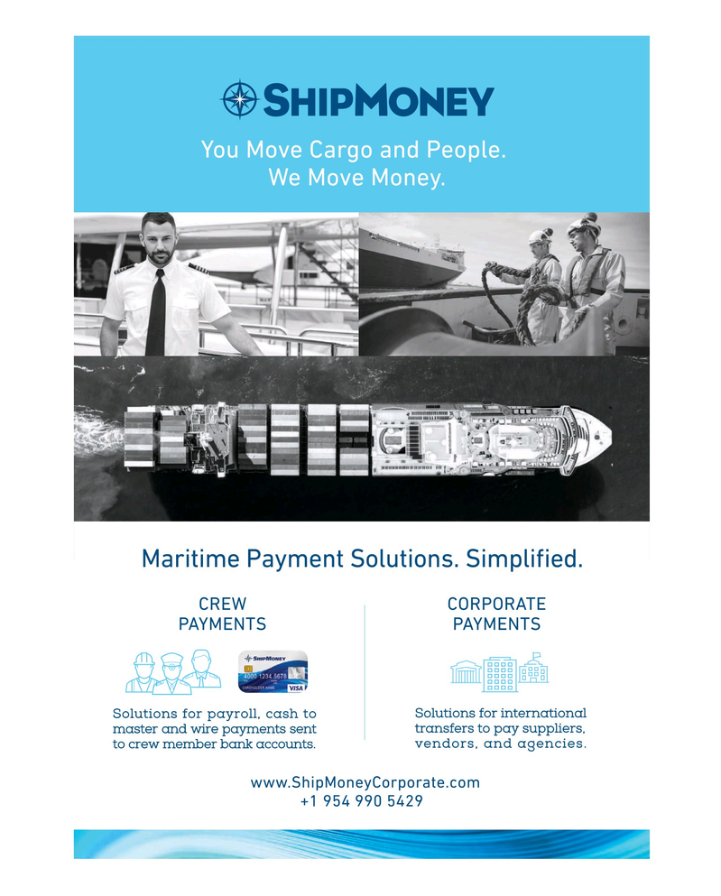 Maritime Reporter Magazine, page 3rd Cover,  Apr 2019