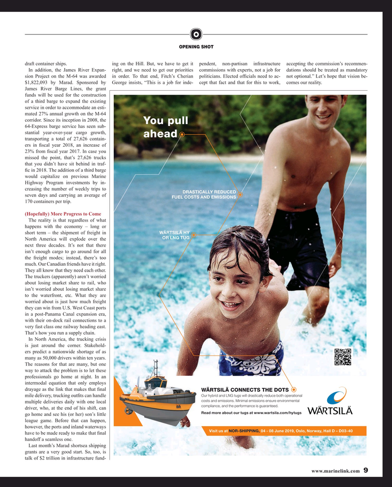 Maritime Reporter Magazine, page 9,  May 2019