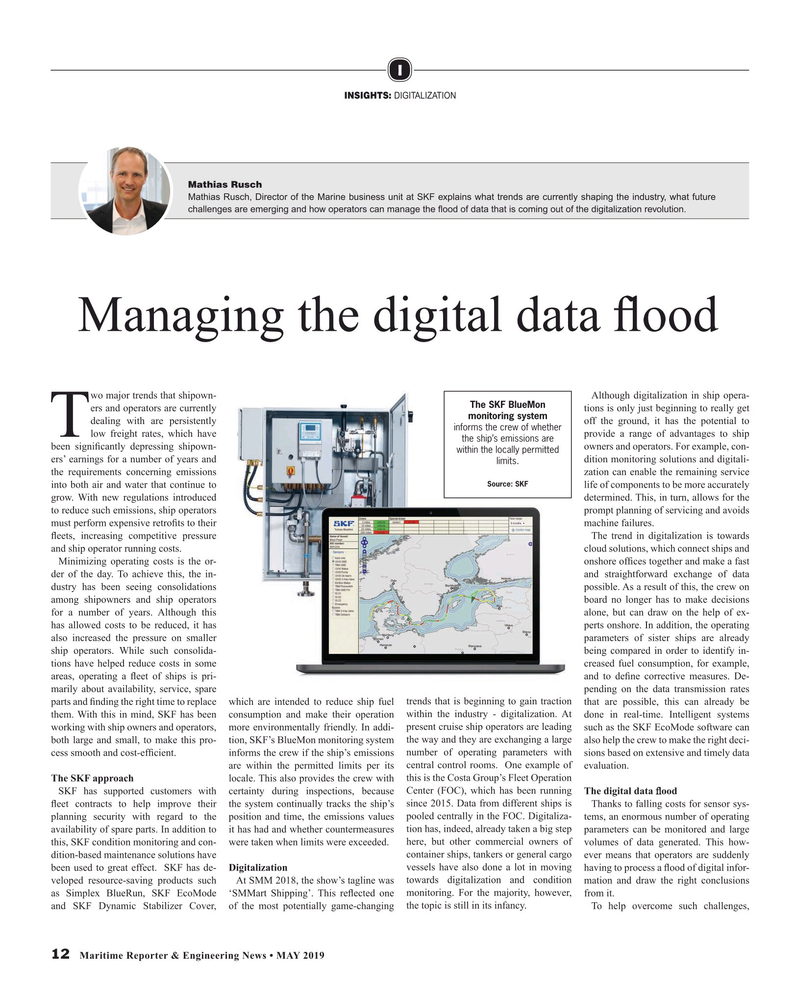 Maritime Reporter Magazine, page 12,  May 2019