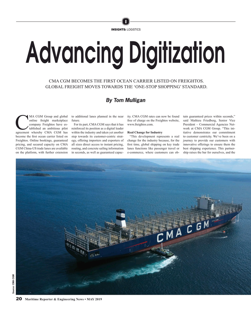 Maritime Reporter Magazine, page 20,  May 2019