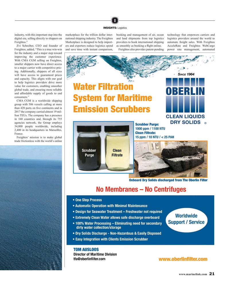 Maritime Reporter Magazine, page 21,  May 2019