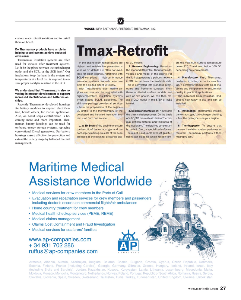 Maritime Reporter Magazine, page 27,  May 2019