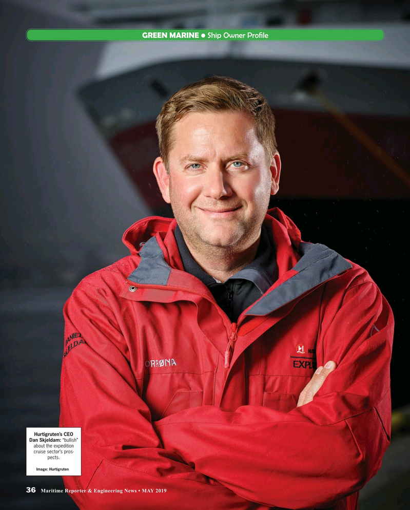 Maritime Reporter Magazine, page 36,  May 2019
