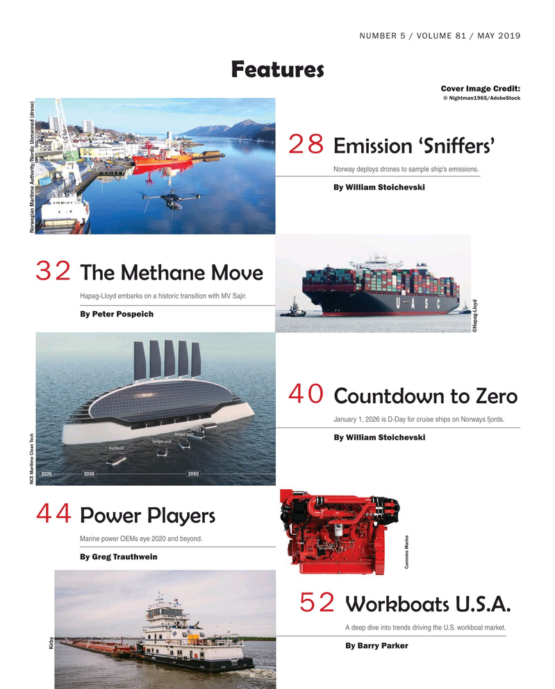 Maritime Reporter Magazine, page 2,  May 2019