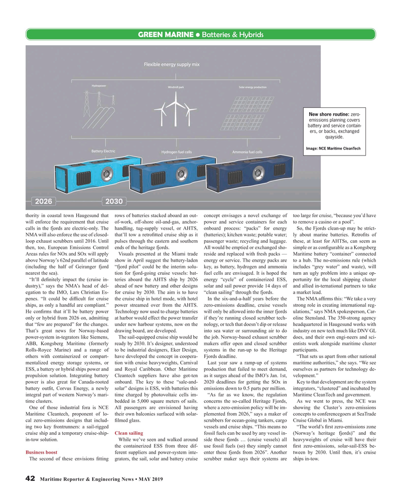 Maritime Reporter Magazine, page 42,  May 2019