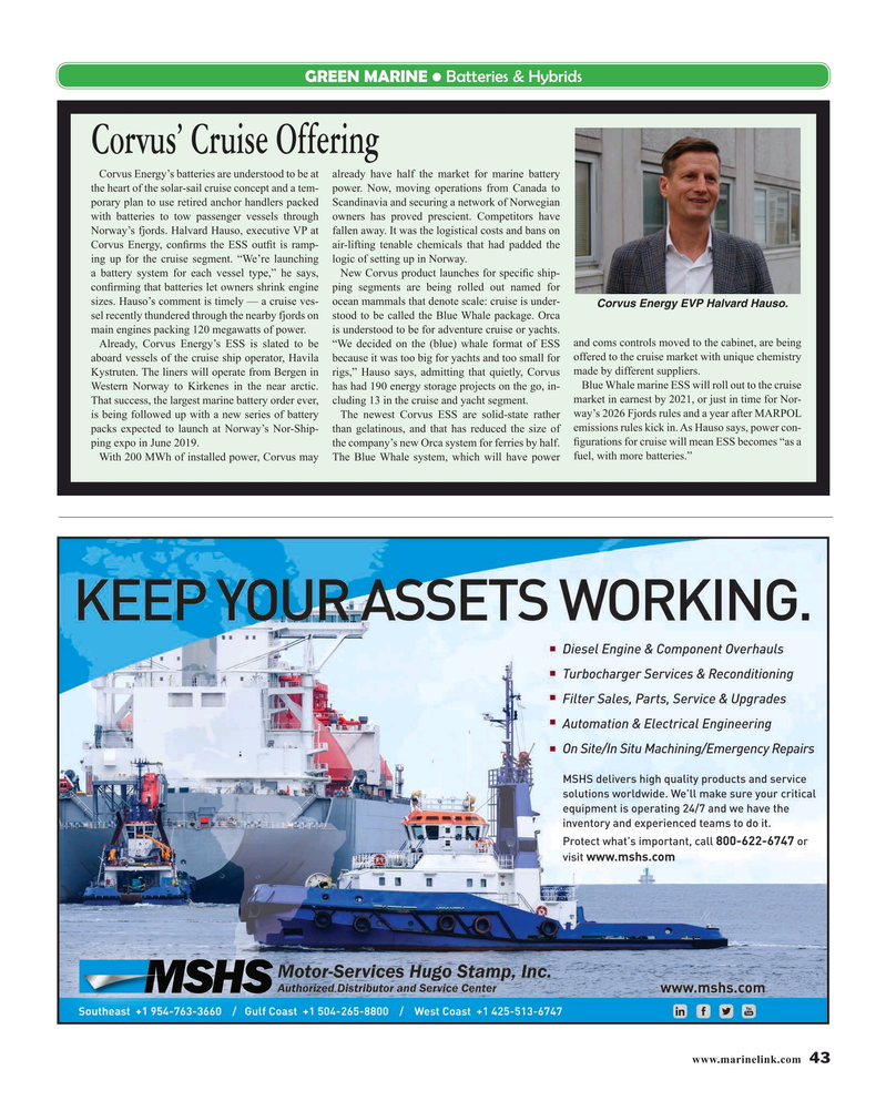 Maritime Reporter Magazine, page 43,  May 2019
