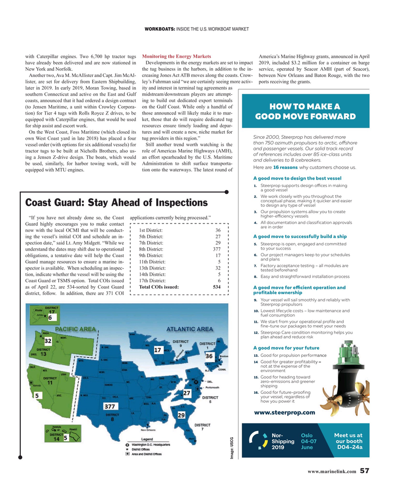 Maritime Reporter Magazine, page 57,  May 2019