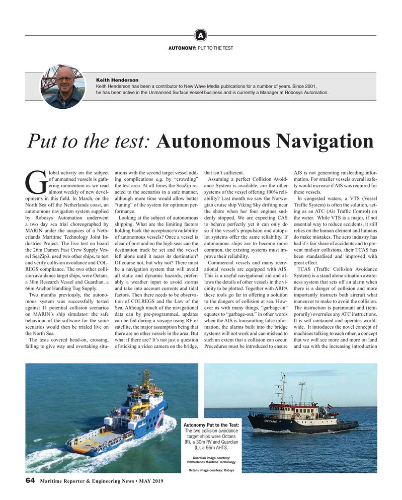 Maritime Reporter Magazine, page 64,  May 2019