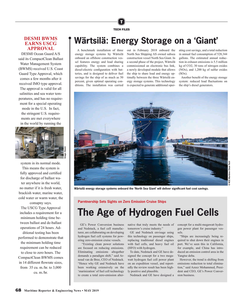 Maritime Reporter Magazine, page 68,  May 2019