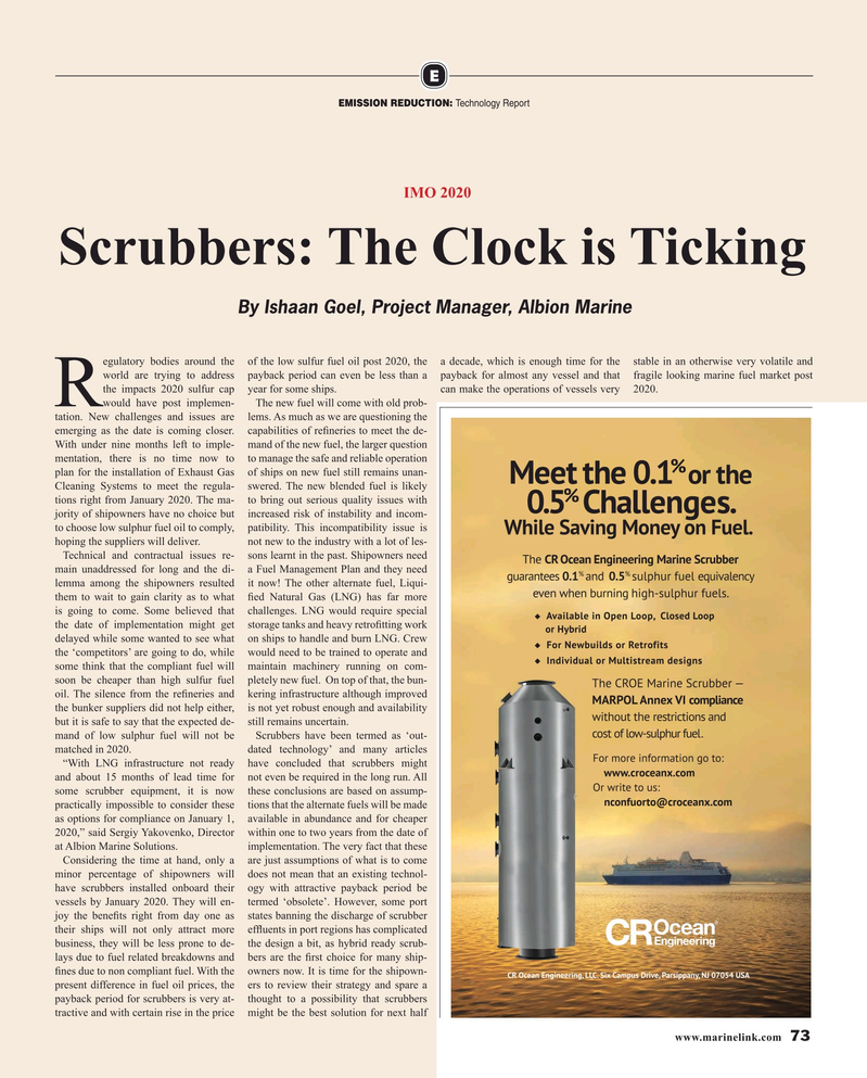 Maritime Reporter Magazine, page 73,  May 2019
