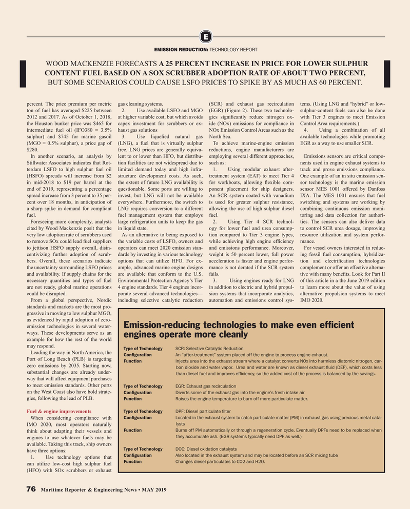 Maritime Reporter Magazine, page 76,  May 2019