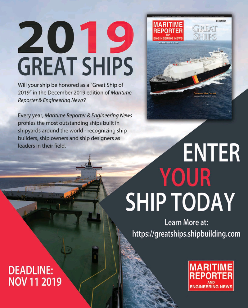 Maritime Reporter Magazine, page 85,  May 2019