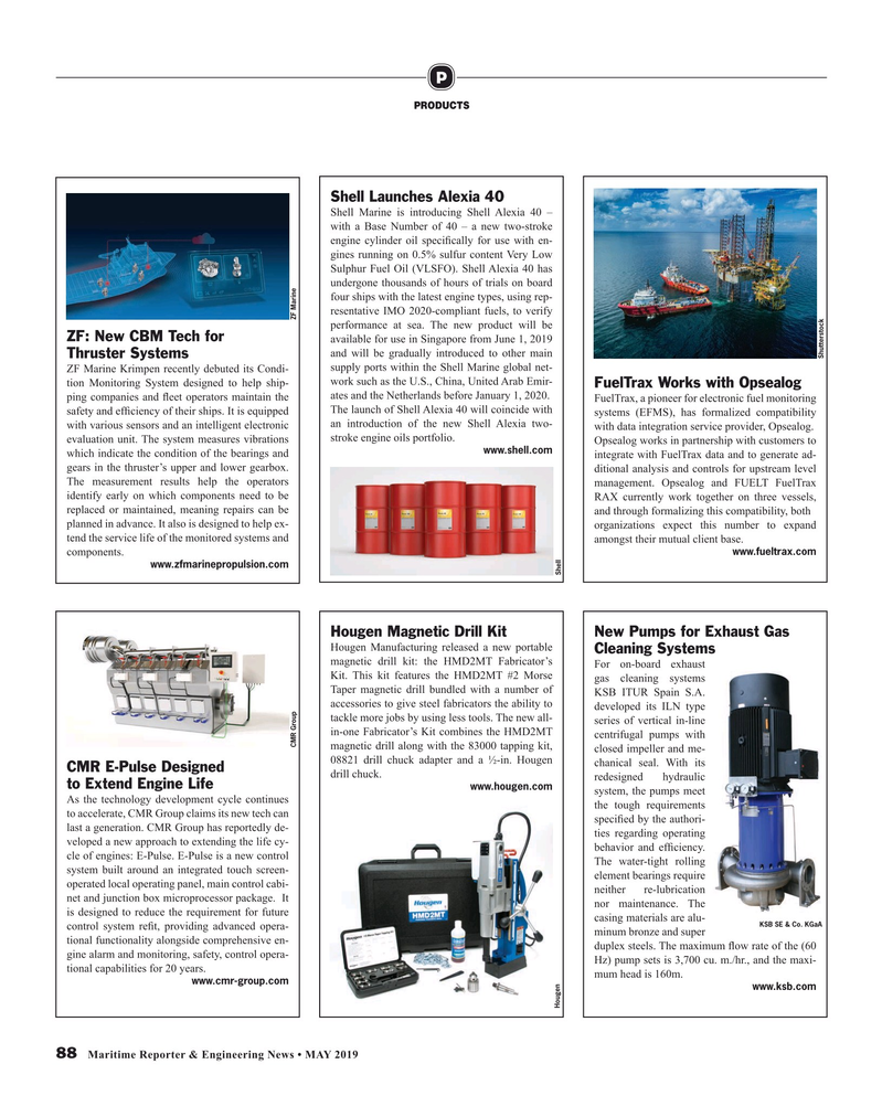 Maritime Reporter Magazine, page 88,  May 2019