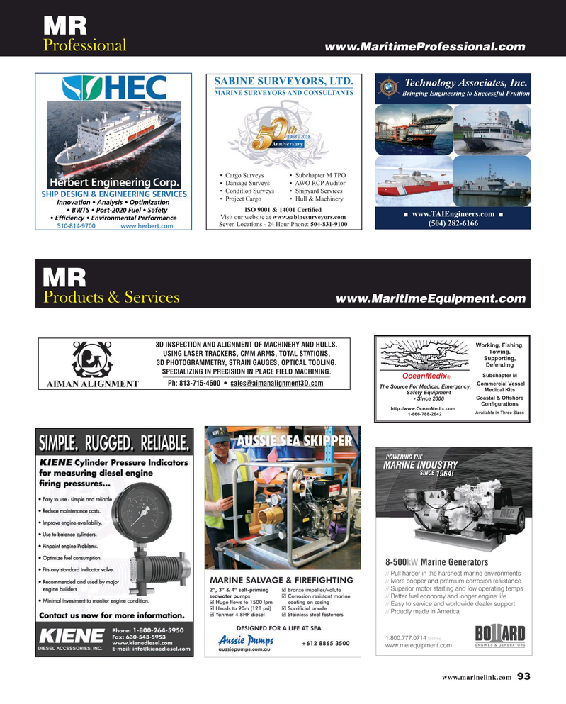 Maritime Reporter Magazine, page 93,  May 2019