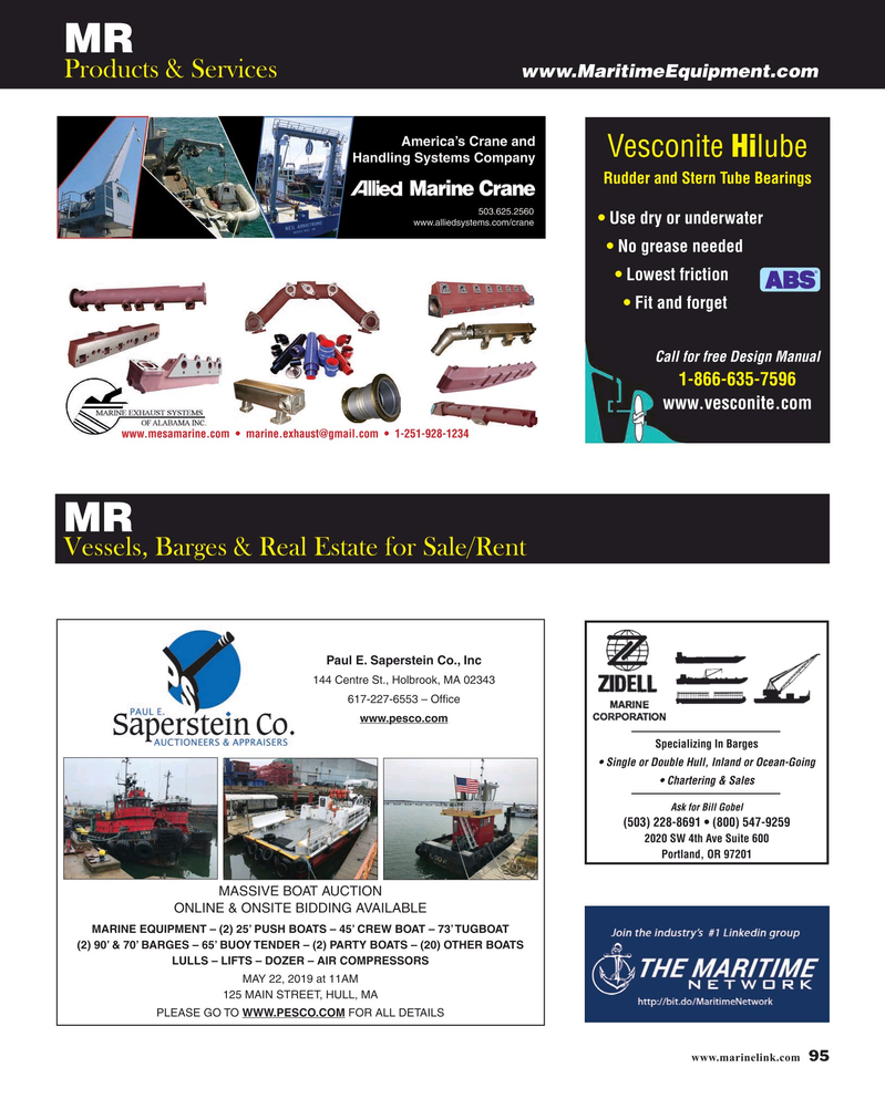 Maritime Reporter Magazine, page 95,  May 2019
