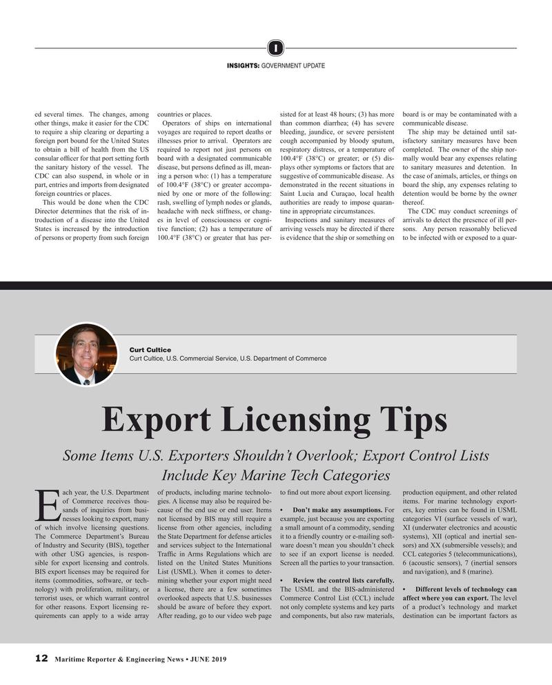 Maritime Reporter Magazine, page 12,  Jun 2019