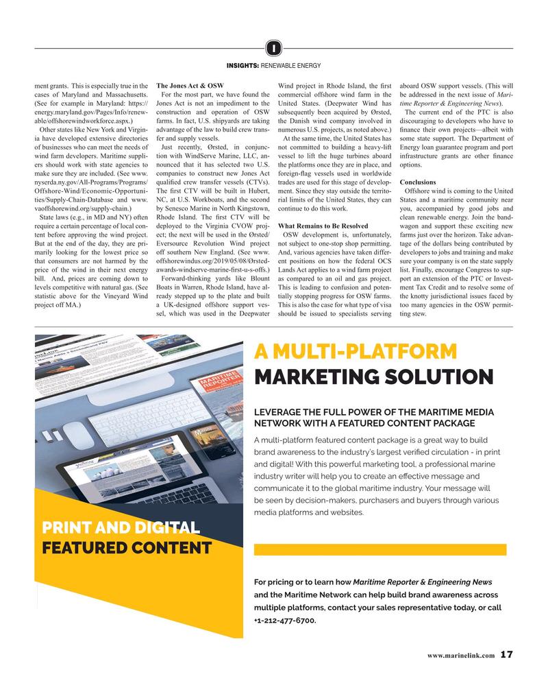 Maritime Reporter Magazine, page 17,  Jun 2019