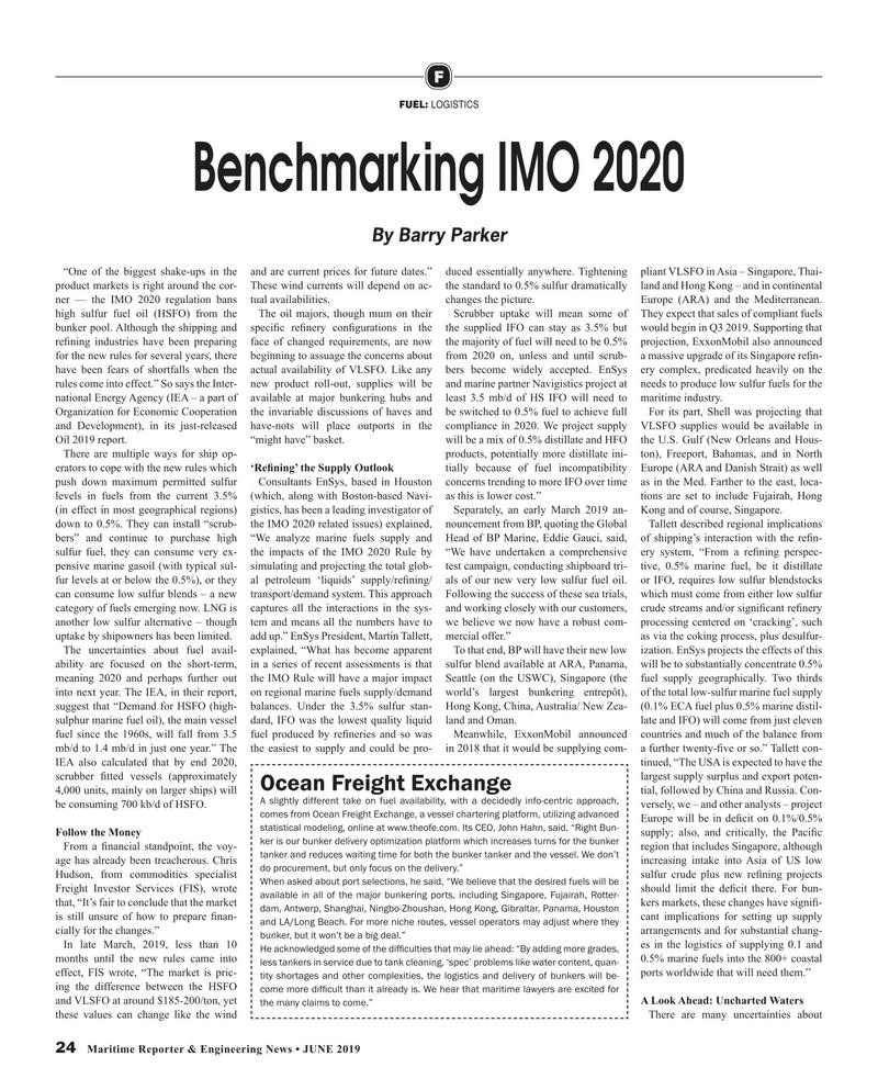 Maritime Reporter Magazine, page 24,  Jun 2019
