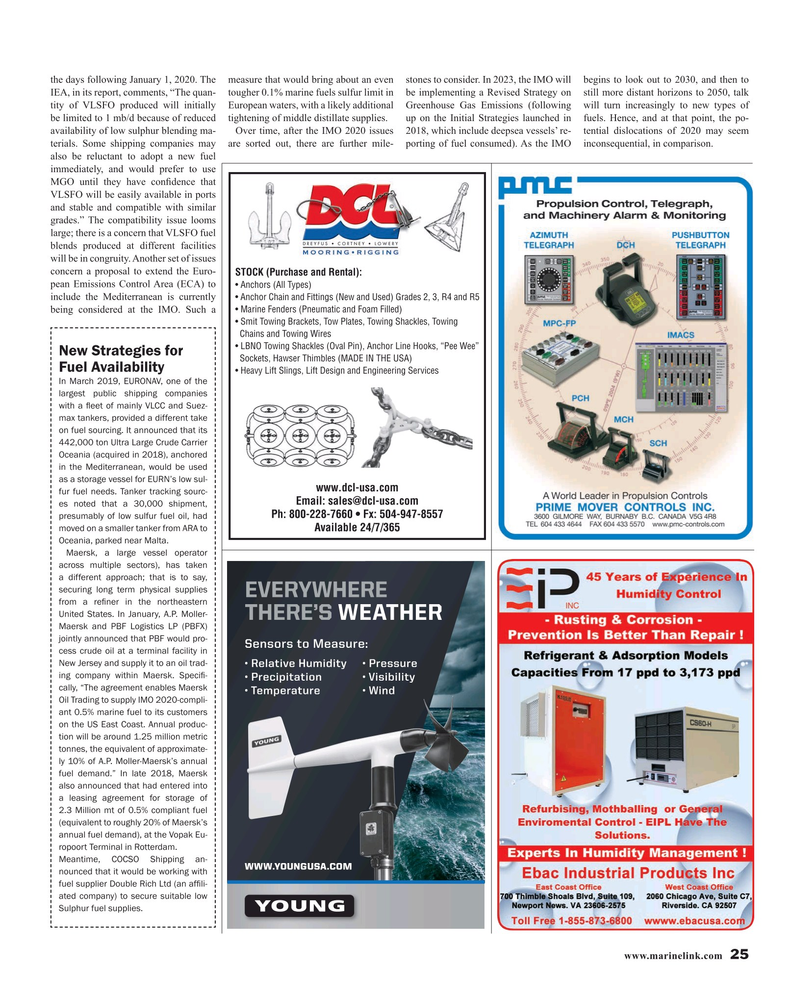 Maritime Reporter Magazine, page 25,  Jun 2019
