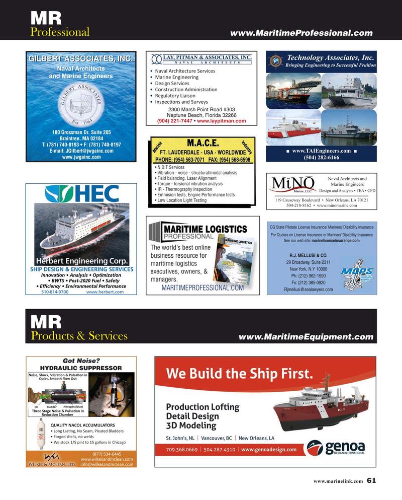 Maritime Reporter Magazine, page 61,  Jun 2019