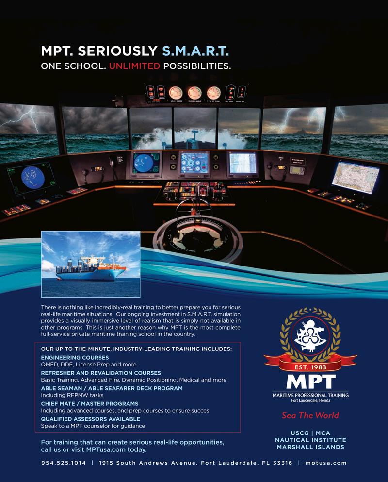 Maritime Reporter Magazine, page 4th Cover,  Jun 2019