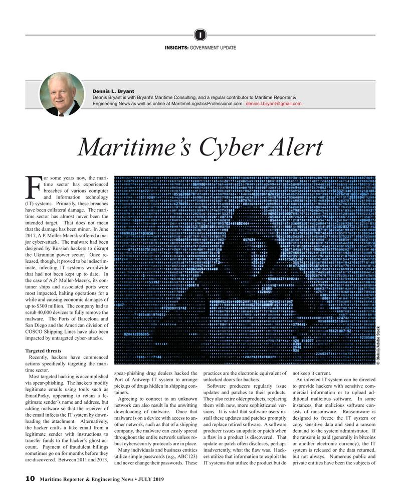 Maritime Reporter Magazine, page 10,  Jul 2019