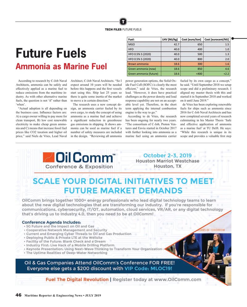 Maritime Reporter Magazine, page 46,  Jul 2019