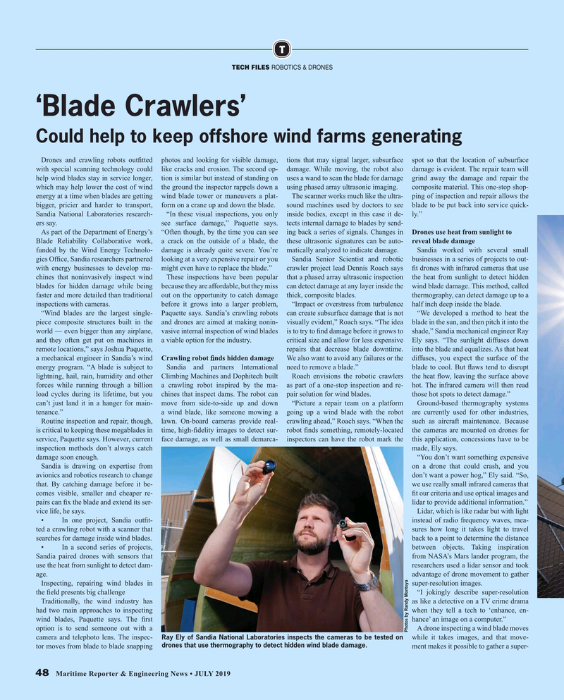Maritime Reporter Magazine, page 48,  Jul 2019