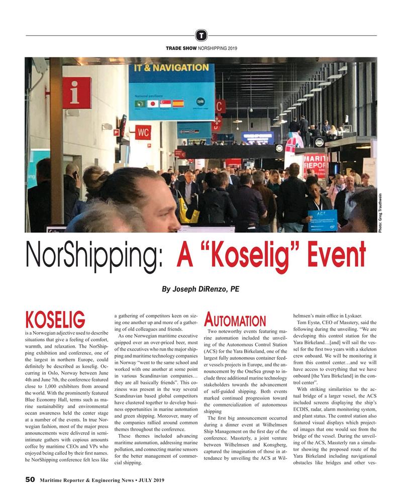 Maritime Reporter Magazine, page 50,  Jul 2019