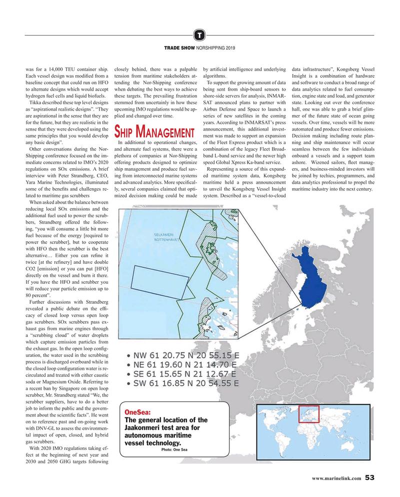 Maritime Reporter Magazine, page 53,  Jul 2019