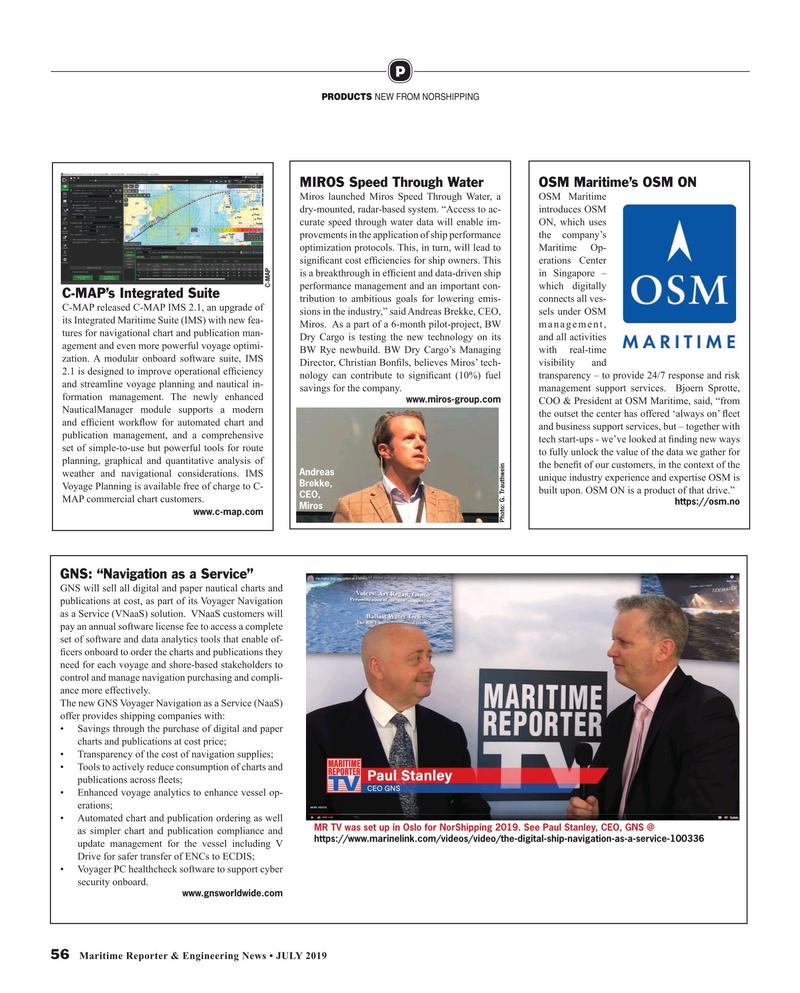 Maritime Reporter Magazine, page 56,  Jul 2019