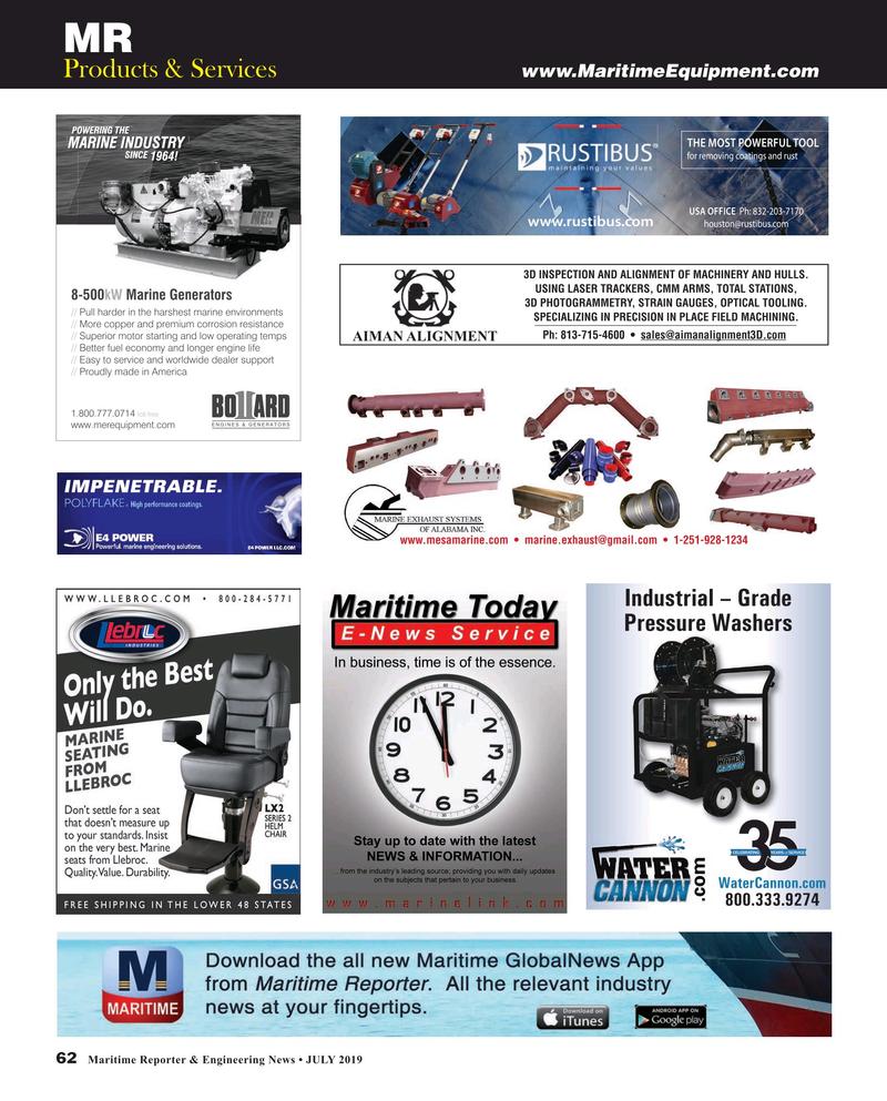 Maritime Reporter Magazine, page 62,  Jul 2019