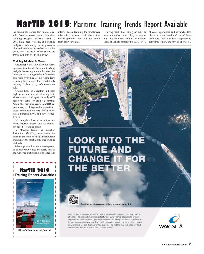 Maritime Reporter Magazine, page 7,  Jul 2019