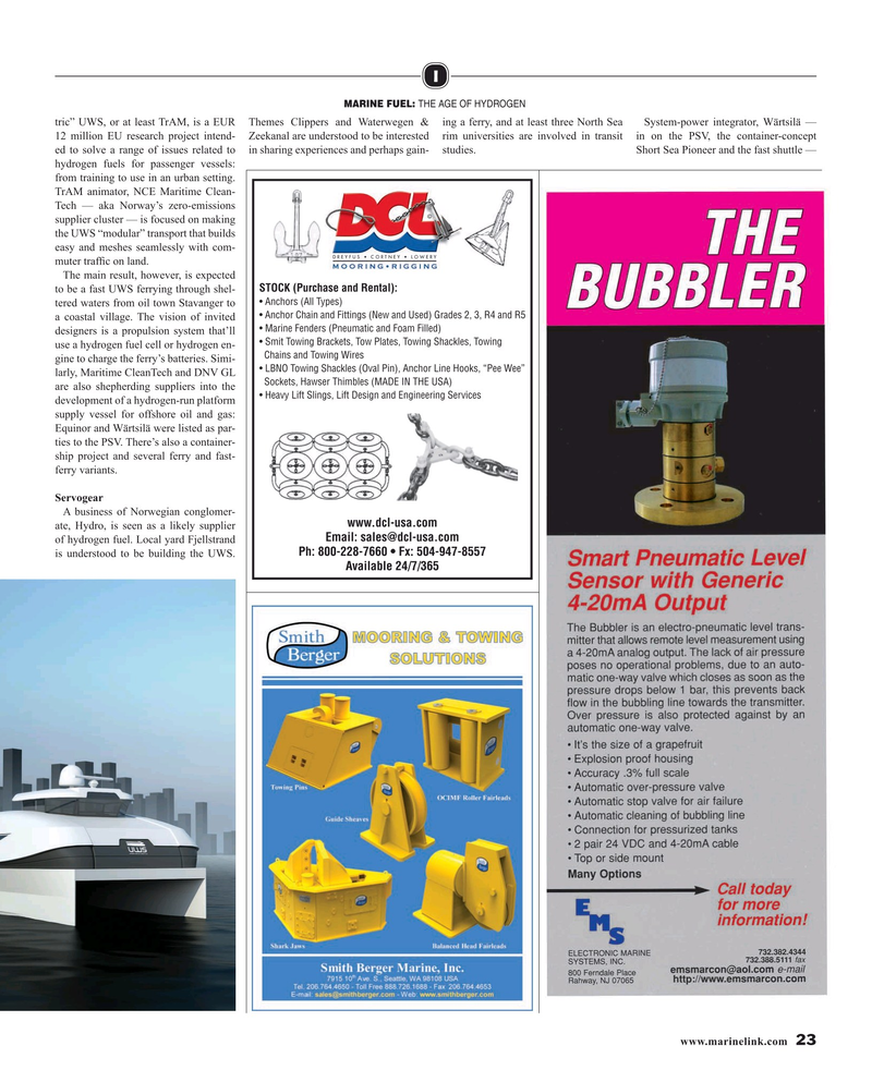 Maritime Reporter Magazine, page 23,  Aug 2019