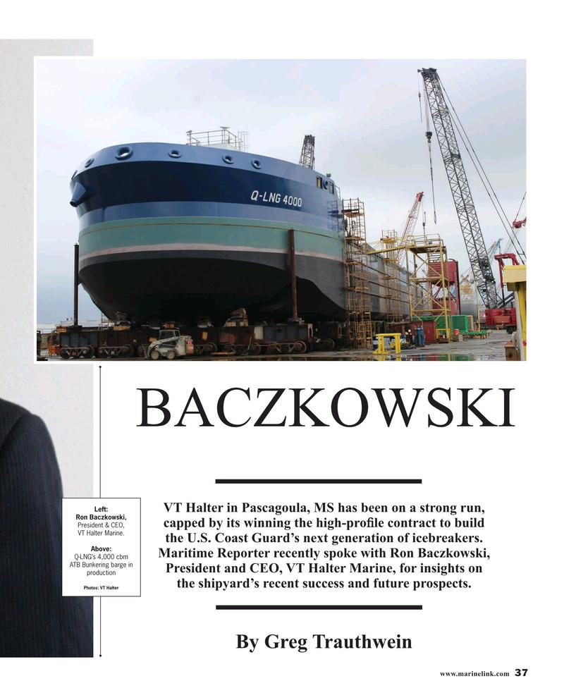 Maritime Reporter Magazine, page 37,  Aug 2019