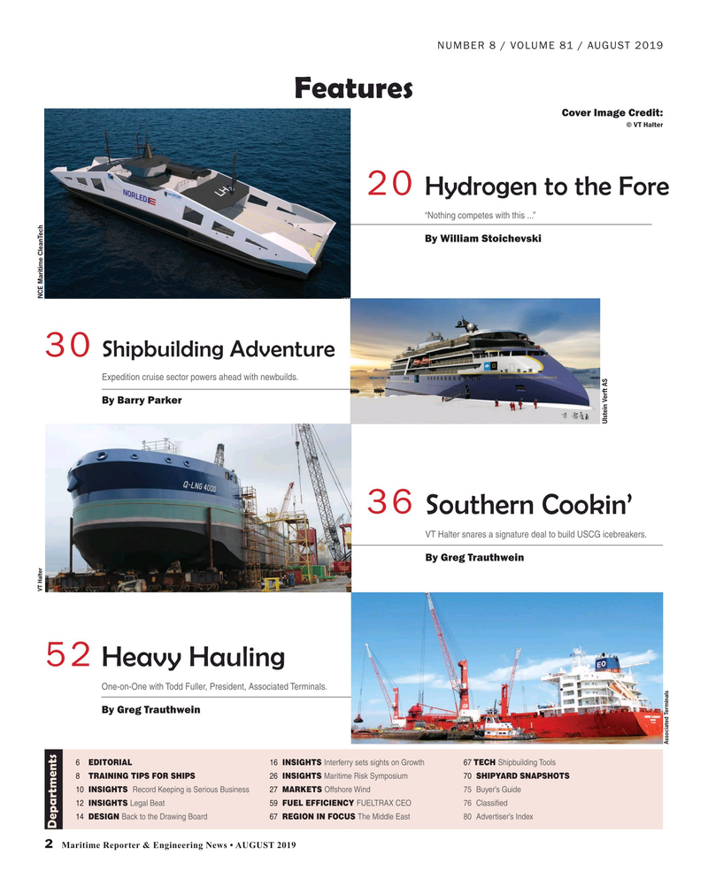 Maritime Reporter Magazine, page 2,  Aug 2019