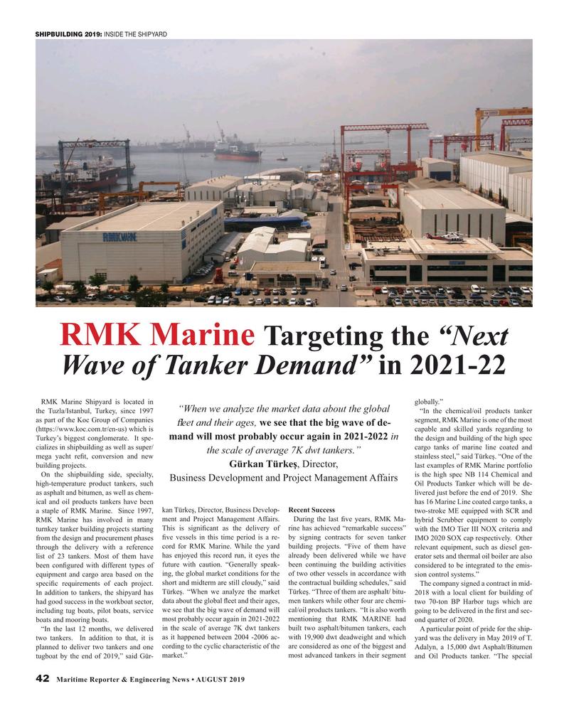 Maritime Reporter Magazine, page 42,  Aug 2019