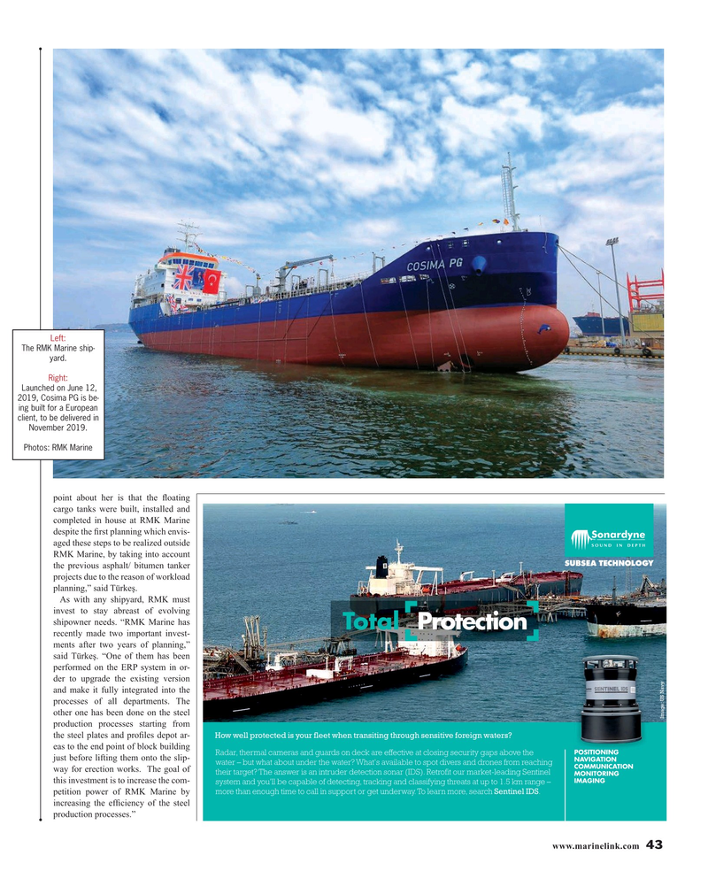 Maritime Reporter Magazine, page 43,  Aug 2019