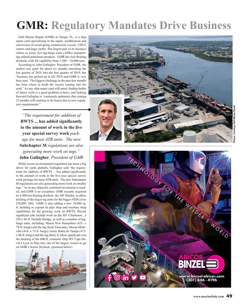 Maritime Reporter Magazine, page 49,  Aug 2019