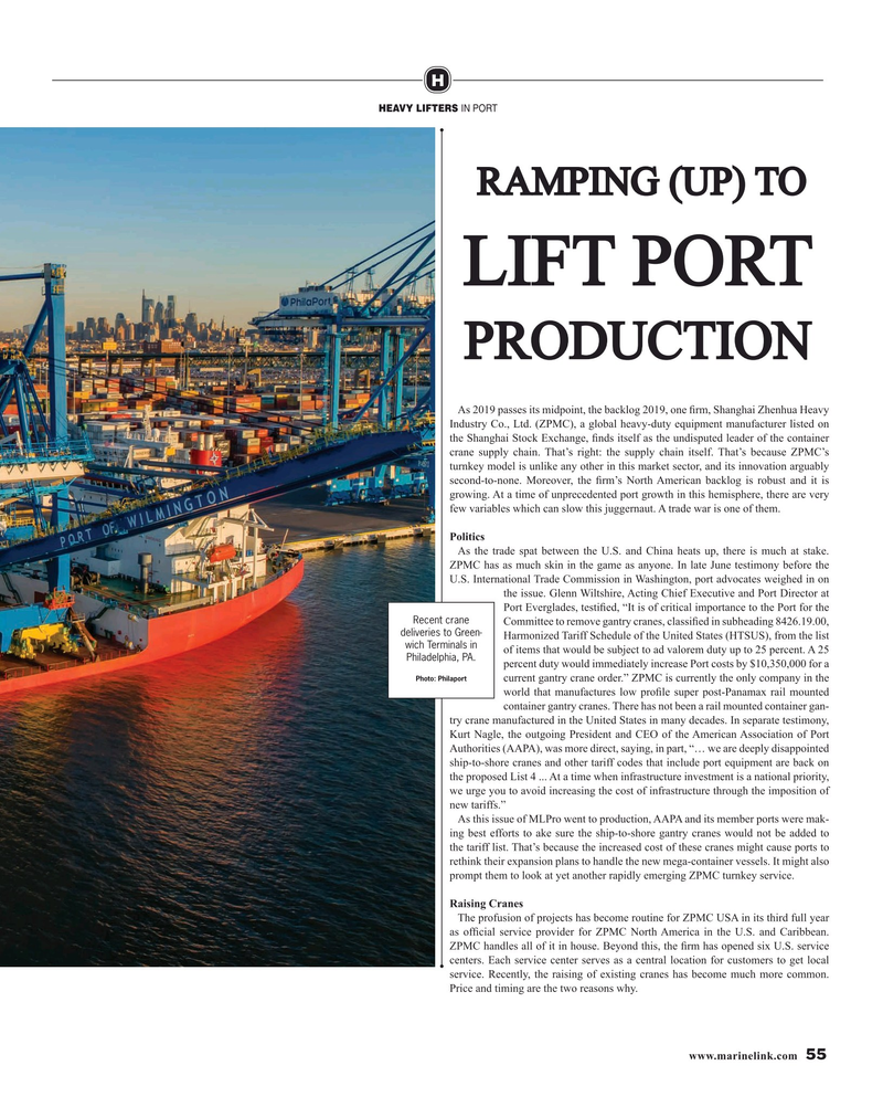 Maritime Reporter Magazine, page 55,  Aug 2019