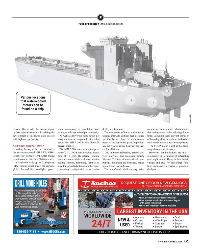 Maritime Reporter Magazine, page 61,  Aug 2019