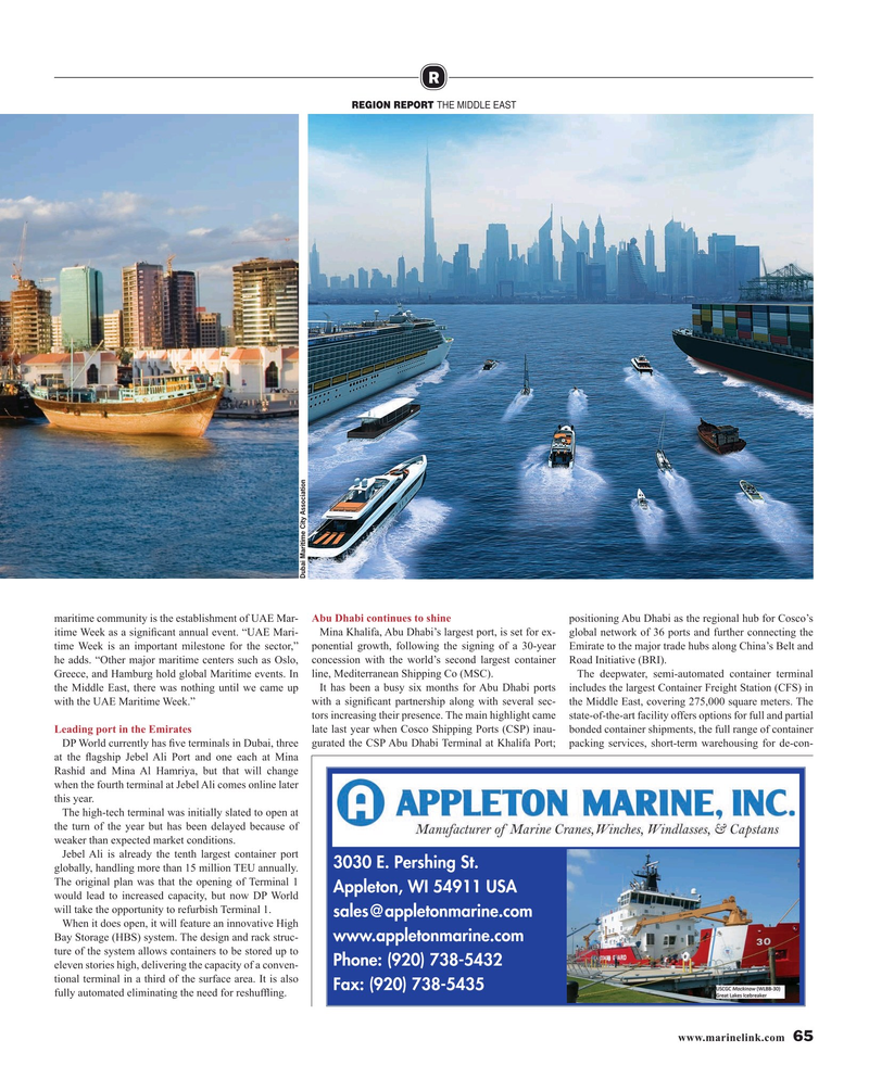 Maritime Reporter Magazine, page 65,  Aug 2019