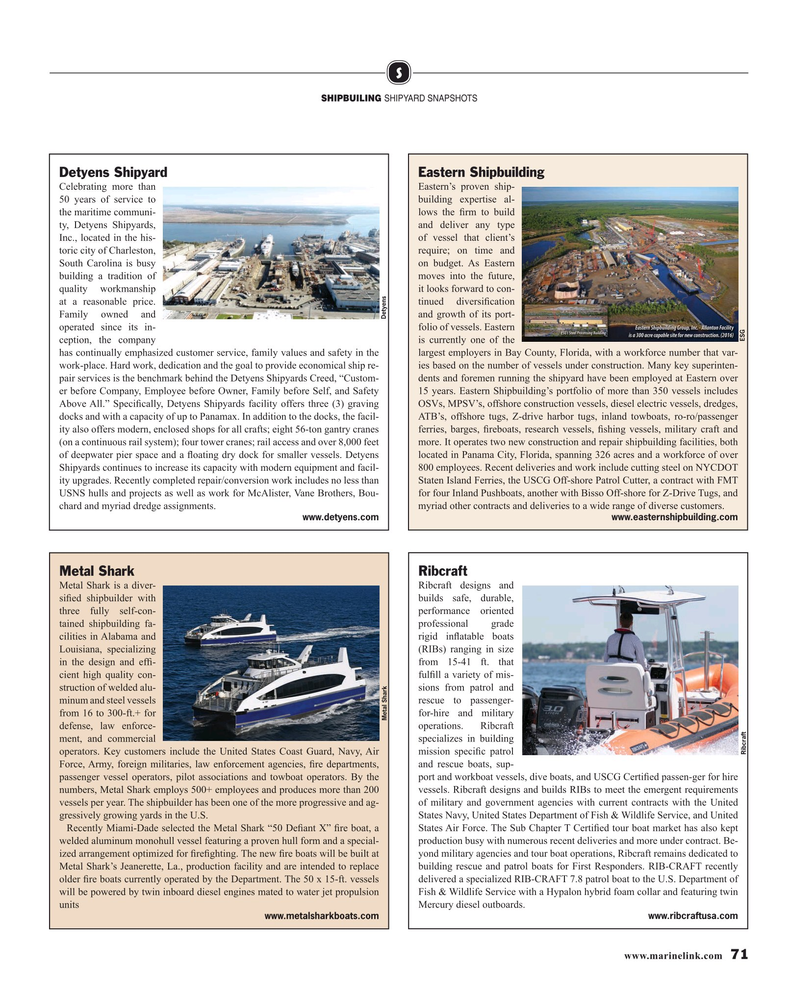 Maritime Reporter Magazine, page 71,  Aug 2019