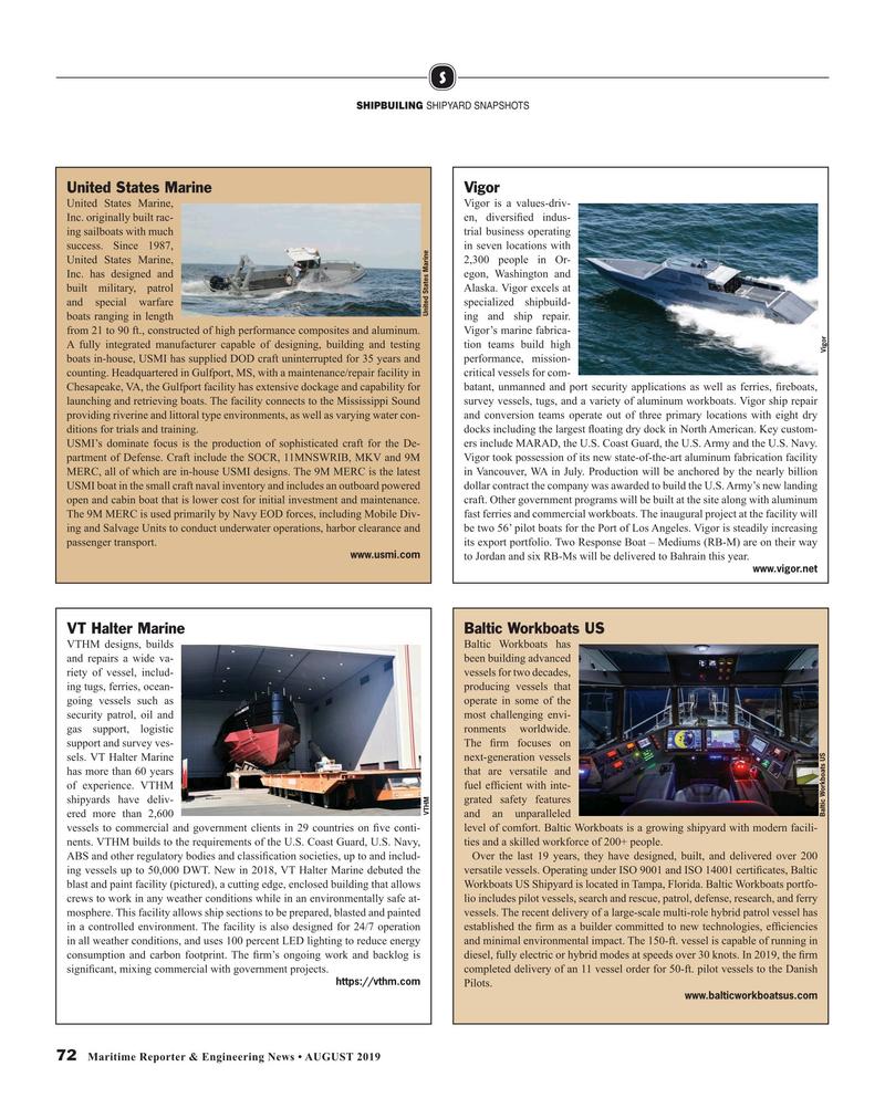 Maritime Reporter Magazine, page 72,  Aug 2019