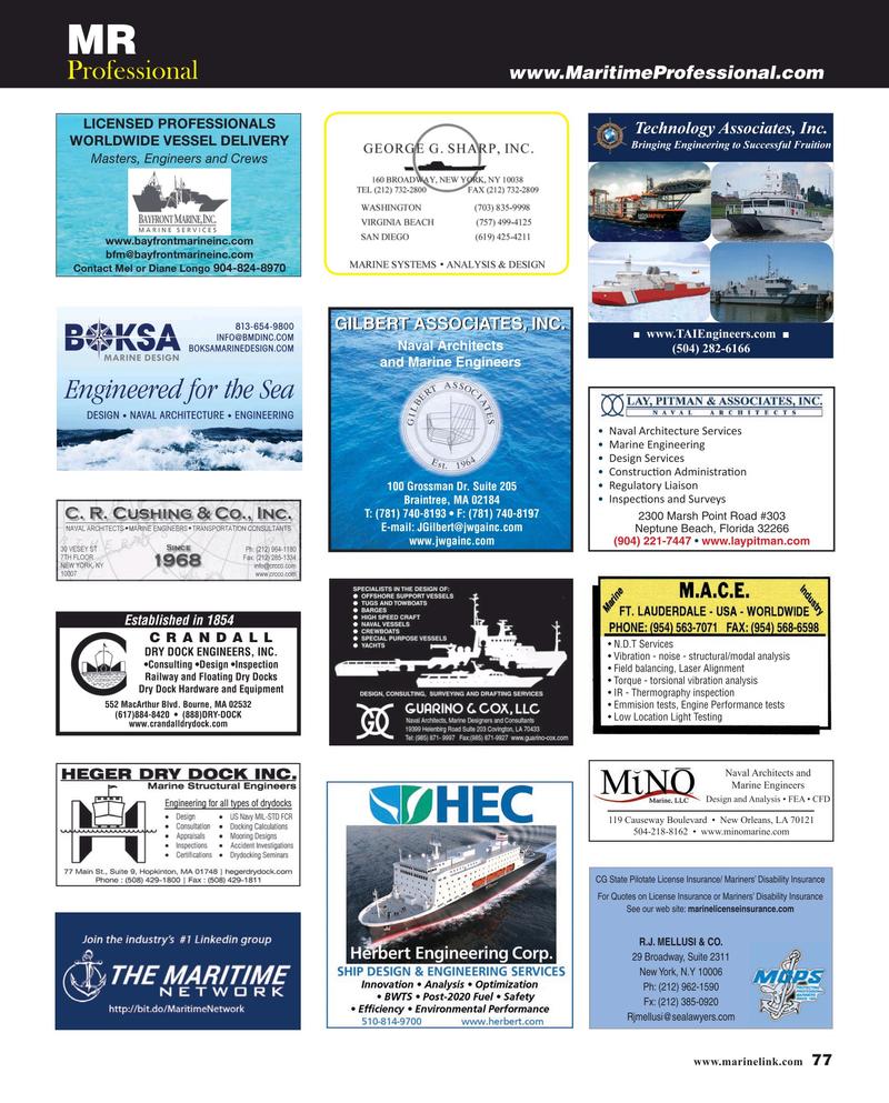 Maritime Reporter Magazine, page 77,  Aug 2019