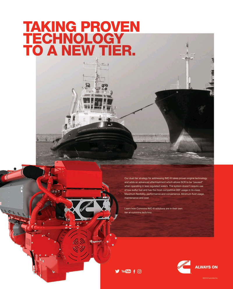 Maritime Reporter Magazine, page 3rd Cover,  Aug 2019