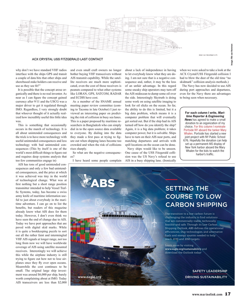 Maritime Reporter Magazine, page 17,  Sep 2019